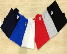 1, 3 Pack Men Fruit of the Loom Plain Athletic Vests Tank To