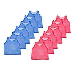 12 Pinnies Youth Practice Team Jerseys Scrimmage Training Ve