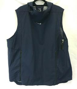 $145 NIKE Alpha Fly Rush Football Vest Hood Ventilated Blue