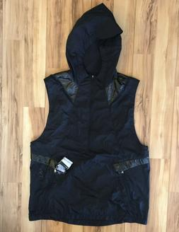 $150 Men's Under Armour Perpetual Black Hooded Running Athle