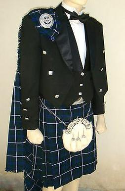 21 pcs | Scottish Prince Charlie Jacket, Vest and Kilt outfi