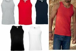 3 Or 5 Pack Fruit of the Loom Mens Sleeveless Plain Sports A