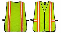 G & F 41112 Industrial Safety Vest with Reflective Stripes,