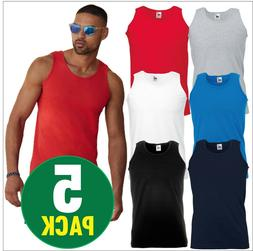 5 pack mens athletic vests tank top