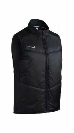 Nike $80 Running Men's Polyfill Full Zip Vest  Black Size Me