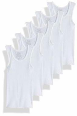 Fruit of the Loom Boys' White A-shirt, 5-pack