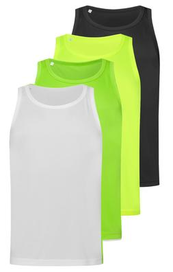 ACTIVE-DRY Breathable Polyester Sports Tank Top Vest Singlet