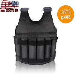Adjustable Workout Weight 110LB 50KG Weighted Vest Exercise