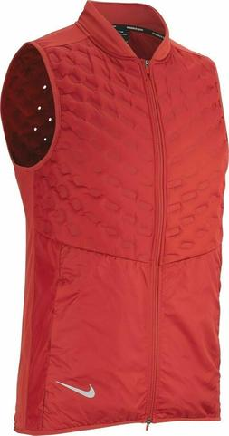Nike Aeroloft Men's Running Vest 928501 642 Dune Red $180 Fr