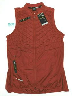 Nike Aeroloft Reflective Vest Mens Running Training Dune Red