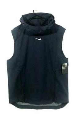 NIKE Alpha Fly Rush Football Vest Hood Ventilated Blue 90842