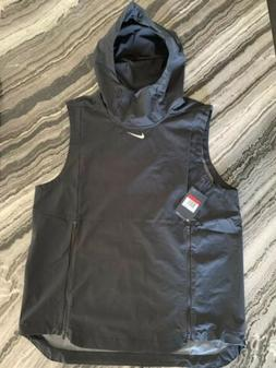 Nike Alpha Fly Rush Vest Mens  Hood Ventilated Black Footbal