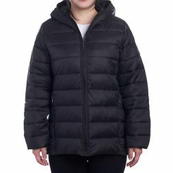 alpineswiss womens hooded down alternative puffer jacket