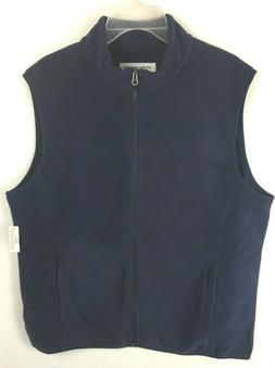 Amazon Essentials Men's Full-Zip Polar Fleece Vest, Navy Blu