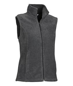Columbia Women's Benton Springs Vest, 1X, Charcoal/Heather