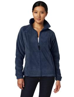 Columbia Women's Benton Springs Full Zip, Columbia Navy, Lar