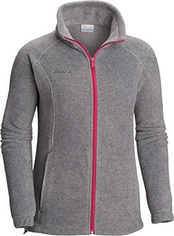 Columbia Women's Benton Springs Full Zip, Light Grey Heather