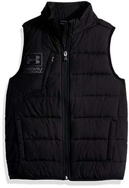 Under Armour Boys' Big Swarmdown Vest, Black, Small