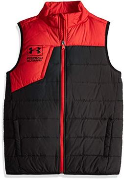 Under Armour Boys' Big Swarmdown Vest, red, Small