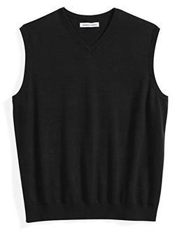 Amazon Essentials Men's Big and Tall V-Neck Sweater Vest, Bl