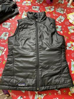 PATAGONIA black quilted lightweight puff vest jacket sz S