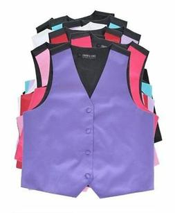Boys' Poly Satin Solid Color Vest for Prom Wedding MANY Colo