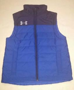 UNDER ARMOUR BOYS VEST Cold Gear Blue Size Small Medium Yout