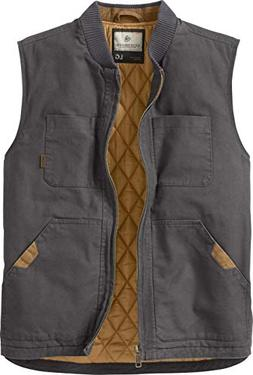 Legendary Whitetails Men's Canvas Cross Trail Vest Charcoal