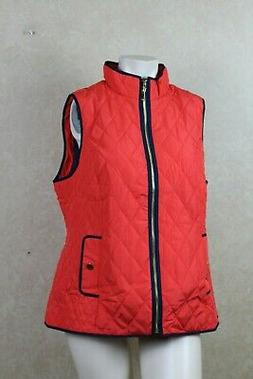 Charter Club Petite Quilted Vest Poppy Glow PM  ____________