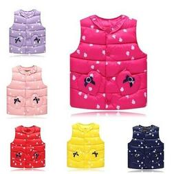Childrens Clothing Kids Girl Baby Winter Cotton Vest Stand S