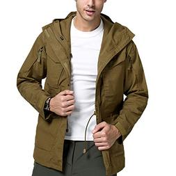 Coat Men's Winter Windproof Warm Outdoor Coat Hooded Sports