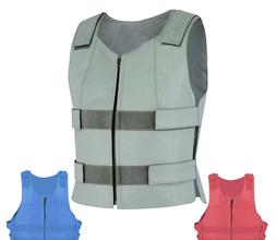 Colored Bullet Proof style Leather Motorcycle Vest bikers Cl