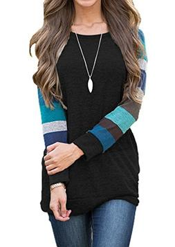 AUSELILY Women's Cotton Knitted Long Sleeve Lightweight Tuni