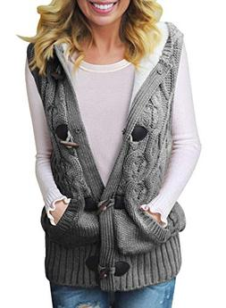 Dokotoo Womens Fashion Ladies Cozy Casual Hooded Cardigans B