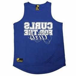 Curls For The Girls SWPS MENS DRY FIT VEST birthday workout
