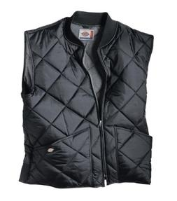 Dickies Men's Diamond Quilted Nylon Vest, Black, Large