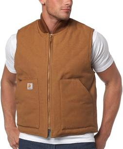 Carhartt Men's Big & Tall Duck Vest,Brown,XXX-Large Tall