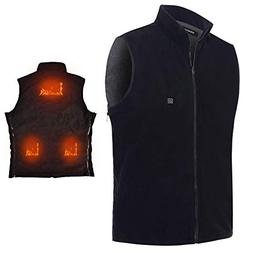 Electric Heated Vest Vinmori Washable Size Adjustable Fleece