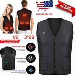Electric USB Heated Vest Sleeveless Jacket Winter Thermal He