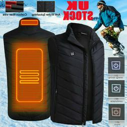 Electric Vest Heated Jacket USB Thermal Warm Heat Pad Winter