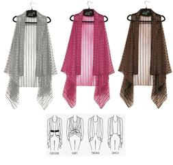 Elegance By Lavello Pink Brown Or Silver Sheer Striped Conve