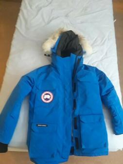 expedition parka blue down jacket coat size