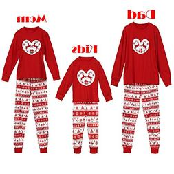 COPPEN Family Pajamas Set 2018 Christmas Deer Pajamas Pants
