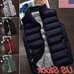 Fashion Men's Winter Warm Puffer Vest Waistcoat Quilted Jack
