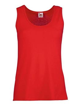 Fruit of the Loom Women's Fit Value Sleeveless Vest Red XL