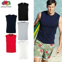 Fruit of the Loom Men Sleeveless Cotton Tank Top Gym/Trainin