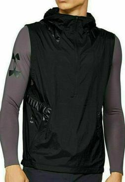 Under Armour Full-Zip Black Fitted Hooded Vest 1320977 001