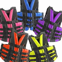 fully enclosed neoprene and polyester life jacket