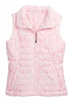 THE NORTH FACE Girls Vest Reversible Mossbud Print Coy Pink