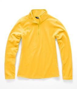 The North Face Women Glacier 1 & 4 Zip - Leopard Yellow - XL